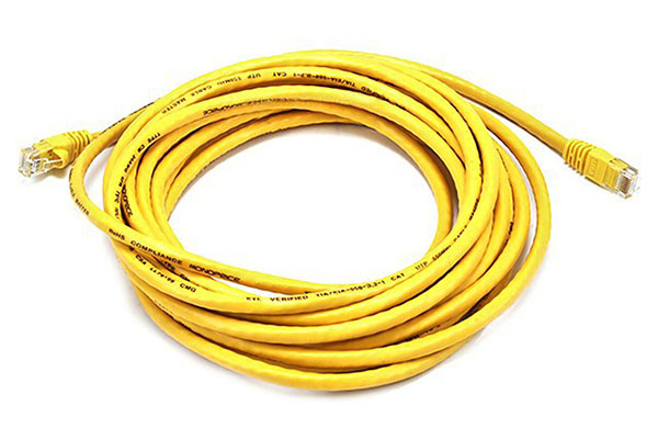 AMP Category 6 UTP Patch Cable 3M Yellow Color 1-1859251-0