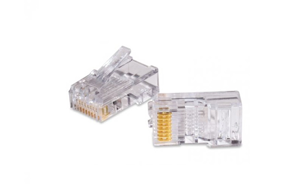 COMMSCOPE/AMP Category 3 Modular Plug, Unshielded, RJ45, 26-24 AWG, Solid 5-557315-3
