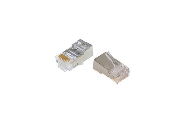 COMMSCOPE/AMP Category 5e Modular Plug, Shielded, RJ45, 26-24 AWG, Solid 5-569550-3