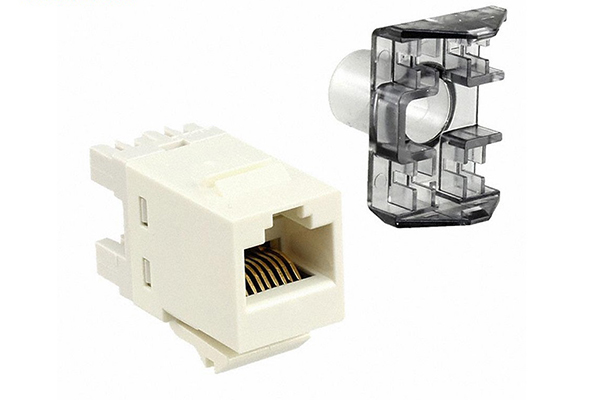 COMMSCOPE/AMP Category 5E, Toolless Modular Jack, Unshielded, RJ45, SL, T568A/B, White 1116604-3
