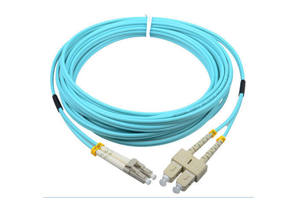 AMP Fiber Optic Cable Assembly, Duplex LC to Duplex SC, OS2, 3m 2105032-3