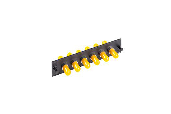 AMP Fiber Optic Snap-In Adapter Plate, Simplex ST, 6-Fiber, MM 559557-1