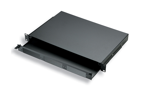 AMP Fiber Optic Rack Mount Patch Enclosure, 1U, Unloaded 1435555-1