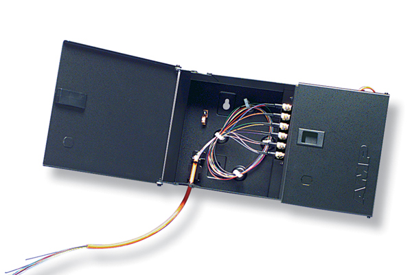 AMP Fiber Optic Wall Mount Patch Enclosure, Light Metal, Unloaded 84751-1