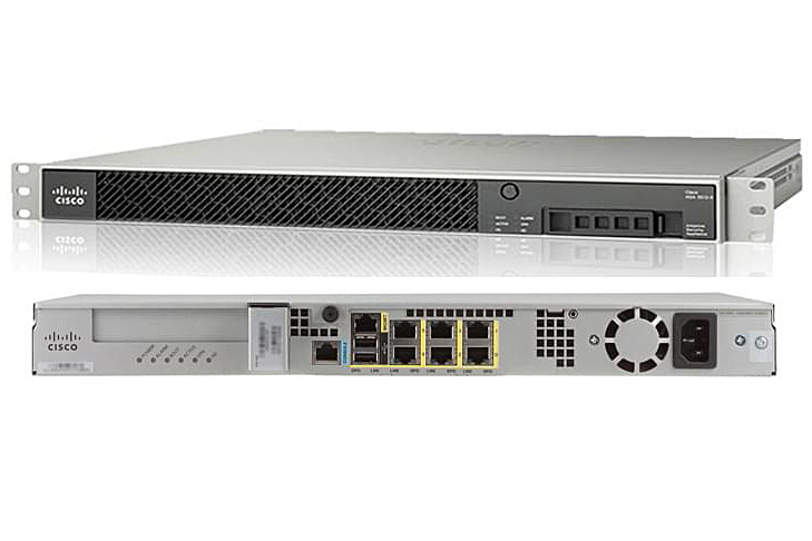 ASA 5545-X with FirePOWER Services, 8GE, AC, 3DES/AES, 2SSD ASA5545-FPWR-K9
