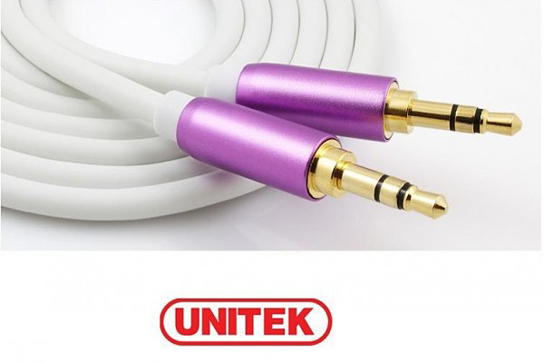 Cáp âm thanh Unitek  3.5mm AUX Audio Cable - Male to Male 1.5m Y-C915