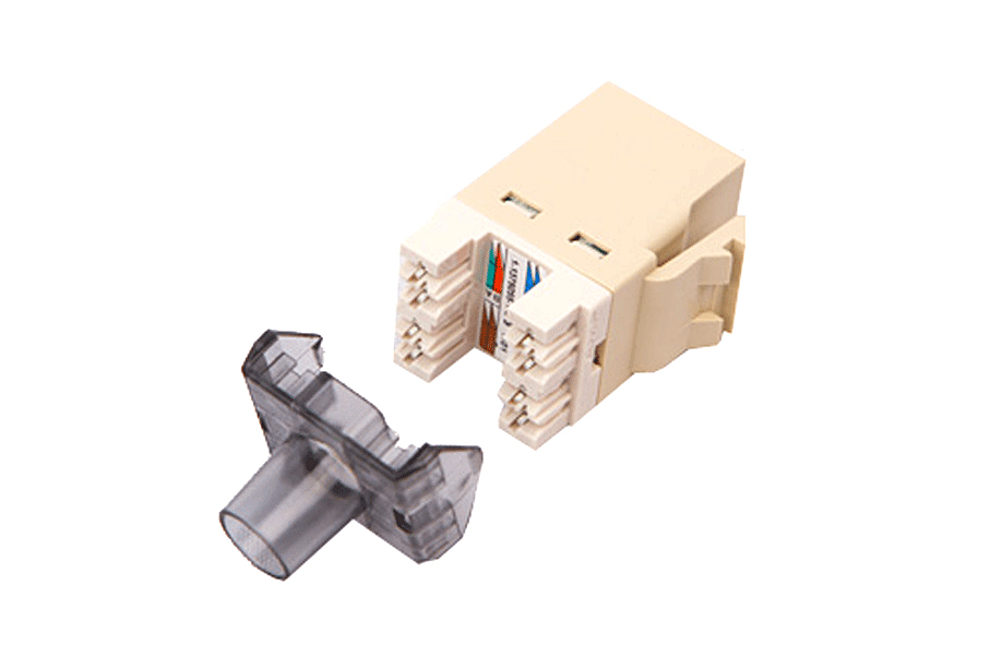 COMMSCOPE/AMP Category 3 Modular Jack, Unshielded, RJ11/14/25C, SL, Almond 1375192-1