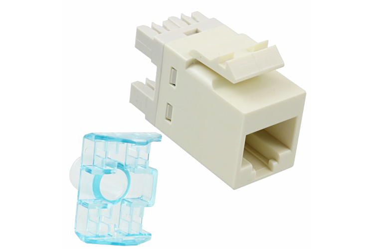 COMMSCOPE/AMP Category 5E Modular Jack, Unshielded, RJ45, SL, T568A/B, Almond 1375191-1